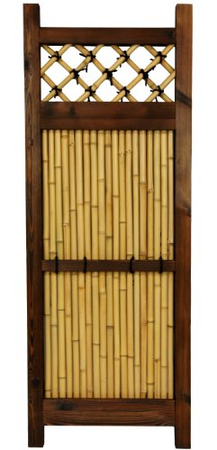 Zen Garden Fence - ORIENTAL FURNITURE 4 ft. x 1 ½ ft. Japanese Bamboo Zen Garden Fence