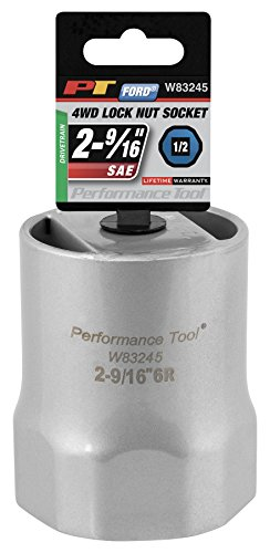 Performance Tool W83245 1/2 Drive Rounded Lock Nut Socket, 2-9/16