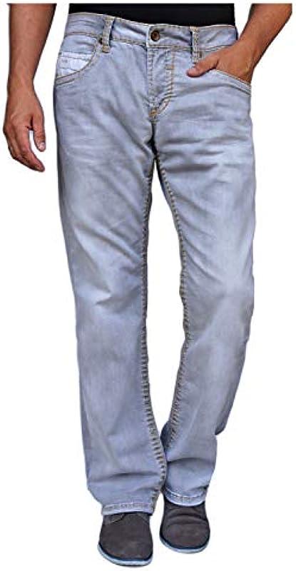 CAMP DAVID JEANS NICO 611 BOOTCUT FIT LOW WAST REGULAR, kolor: jasnoszary , rozmiar: 33W / 30L: Odzież