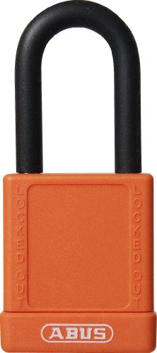 ABUS 74/40 KD Safety Lockout Non-Conductive Keyed Different Padlock with 1-1/2-Inch Shackle, Orange by ABUS