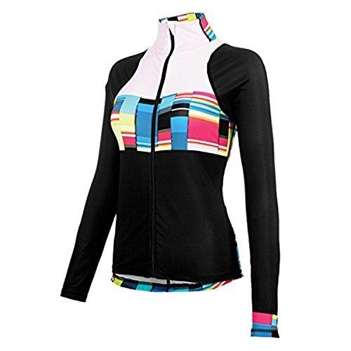 Shebeest : Womens Clothing - Shebeest Women's Virtue Long Sleeve Cycle Jersey (Baja Black, X-Large)