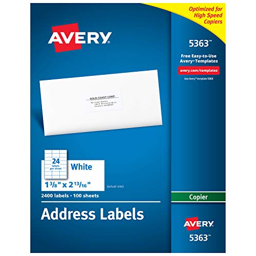 Avery White Copier Mailing Labels (5363)
