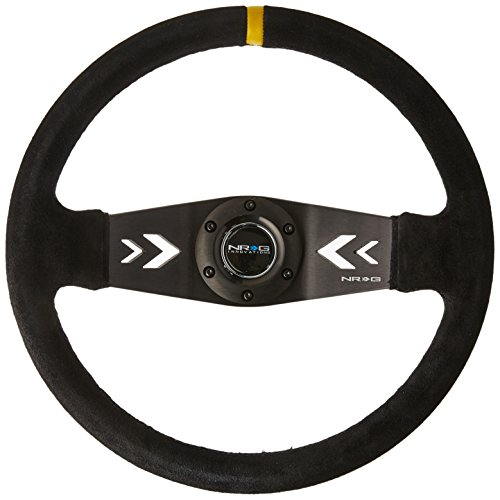 NRG Innovations RST-022S-Y Reinforced Steering NRG Arrow Cut Out Two Spoke 350mm Sport Stereing Wheel
