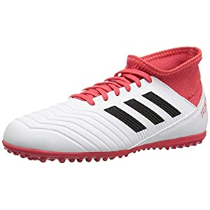 adidas Originals Unisex-Kids Ace Tango 18.3 TF J, White/Core Black/Real Coral, 4 M US Big Kid