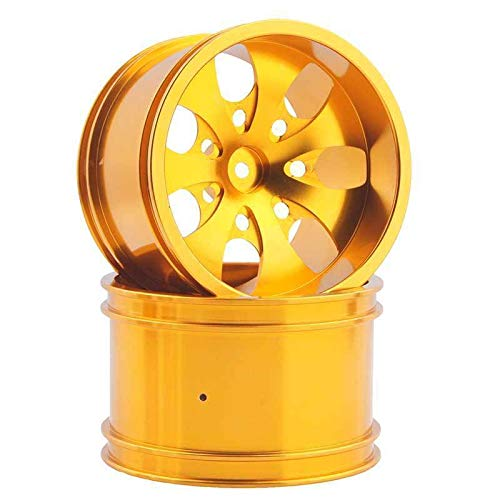 Toyoutdoorparts RC 08008N Gold Alumiunm Wheel 4P Rims D:78mm W:50mm for HSP 1:10 Monster Truck by Toyoutdoorparts (Image #1)
