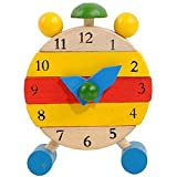 F_Gotal Toys for Boys Girls Clearace - Baby Kids Toddler Educational Toys Hand Made Wooden Clock Toys Learning Toys for Kids Child Adults Gifts