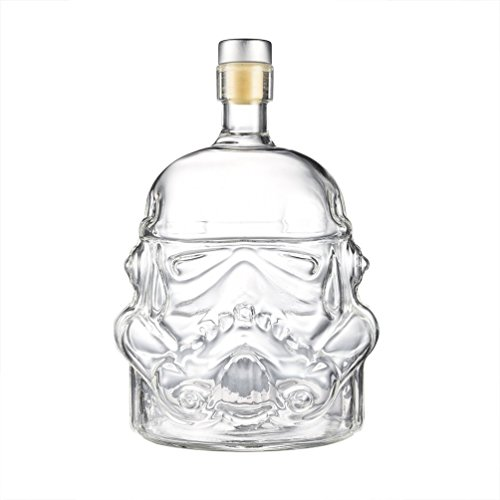 AUTHOME Transparent Creative Star Wars 700ml Whiskey Flask Carafe Decanter,Stormtrooper Glass Bottle ,Wine Decanters,Whiskey Carafe,Awakens Helmet Glass Cup Heat-Resistance Cup for Whisky, Beer, Brand by AUTHOME