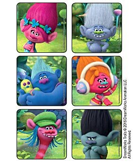 45 pack stickers Trolls Birthday Party Supplies