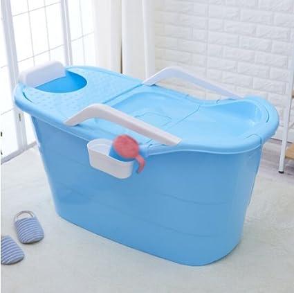 Large bath tub with lid thickening adult plastic tub bath bathtub ...
