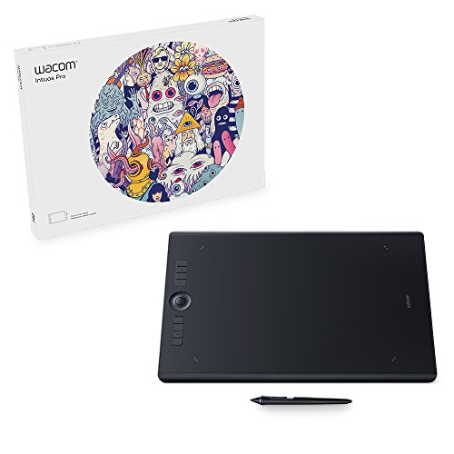 Wacom Intuos Pro digital graphic drawing tablet for Mac or PC, Large, (PTH860) NEW MODEL