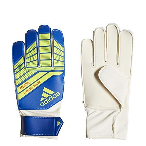 adidas Predator Junior Goalkeeper Gloves, Football Blue/Bold Blue/Solar Yellow, Size 5 - Kids Goalie Gloves