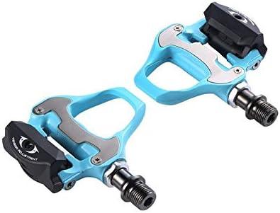 Pedal de bicicleta de carretera bicicleta autoblocante pedales con las grapas de Ciclismo for bicicleta de pedales de piezas de peso ligero del pedal de la bicicleta duradera ( Color : Bianchi Green )