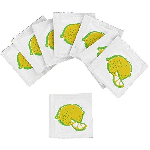 BUNZL Sanfacon 25813 Lemon Scented Wet Nap Towelette - 1000/CS