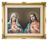 Twin Hearts Framed Art Poster Under Glass Overall Size 16x20