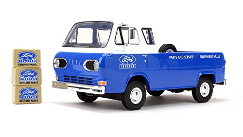 First Gear 1/25 Scale Diecast Collectible Ford Tractor Parts & Service 1960s Ford Econoline Pickup with Three Boxes -