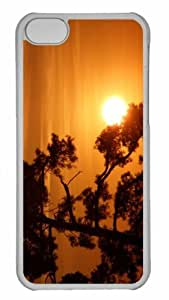 Customized iphone 5C PC Transparent Case - Sun On A Tree Branch Personalized Cover