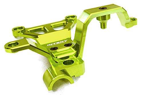 Integy Hobby RC Model C27075GREEN Billet Machined Steering Bell Crank Support for Traxxas X-Maxx (Gt Billet Oil)