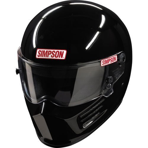 Small Race Helmet (Simpson Bandit 6200032 Helmet, Black, Large SA2015)