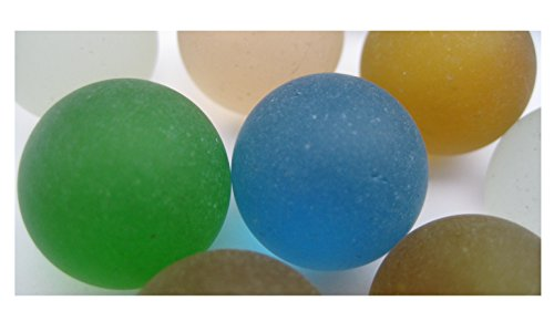 Beach Glass Mixed Frosted Colors 16mm Undrilled Round for Jewelry Making