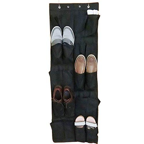 Cute Over The Door Hanging Shoe Organizer Bag Space Saver (20 Pocket Shoe)