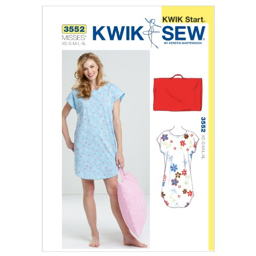 Kwik Sew K3552 Sleep Shirt and Pillowcase Sewing Pattern, Size XS-S-M-L-XL by KWIK-SEW PATTERNS