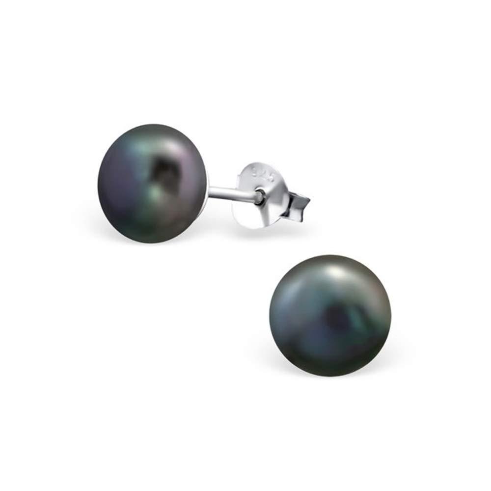 Girls 8Mm Pearl Ear Studs 925 Sterling Silver