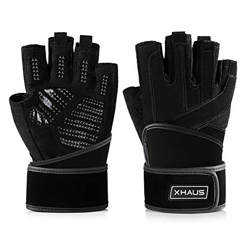 Xhaus Weight Lifting Gym Workout Gloves with