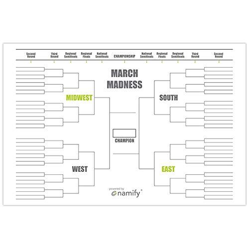 - 4' x 6' NCAA Tournament March Madness Bracket Banner