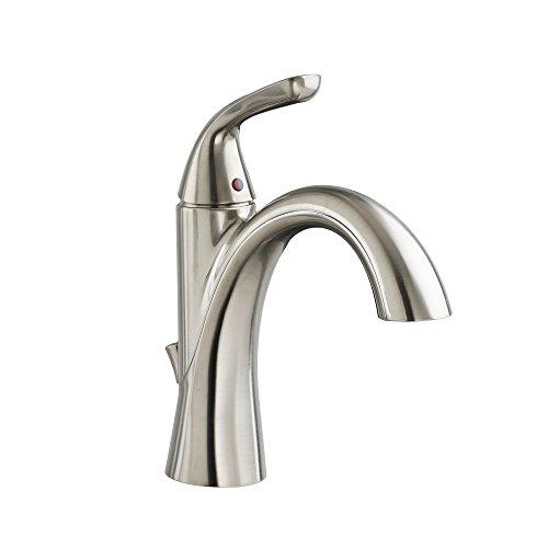 Bathroom Sink Faucet Satin - American Standard 7186101.295 Fluent Single Control Bathroom Faucet with Pop-up Drain, Satin Nickel