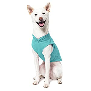 Gooby Every Day Fleece Cold Weather Dog Vest for Small Dogs, Turquoise, Medium