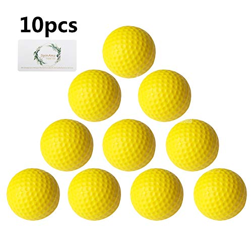 Smartlife15 Practice Golf Balls, Foam Sponge Soft Elastic Golf Balls, Indoor Outdoor Golf Training Aid Balls (Yellow,10pcs)