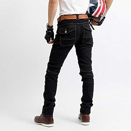WildBee Motocross Courses Noir Jeans avec coussinets de protection pour les hanches et les genoux