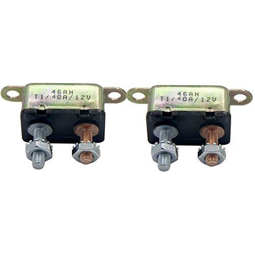 - ZOOKOTO 2pcs 12V 40A Auto Circuit Breaker Automatic Reset Fuse Stud Bolt 40Amp