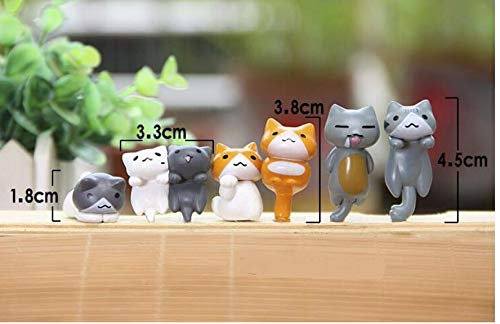 Authentic Japanese Design Features a Detachable Keyring Durable Plastic 6 Collectable Figurines Astra Gourmet Cat Keychains