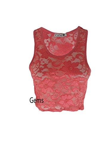 Generic - T-shirt - Femme Rouge Corail M/L