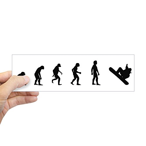 CafePress Evolution Snowboarding Bumper Sticker