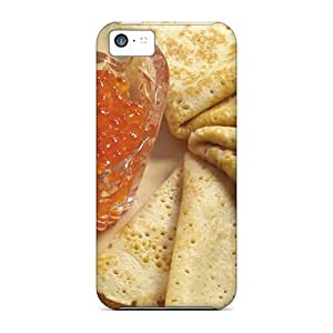 Tpu Fashionable Design Pancakes With Caviar Rugged Case Cover For Iphone 5c New