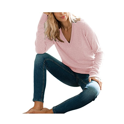 Pink 100% Cashmere Sweater - 3