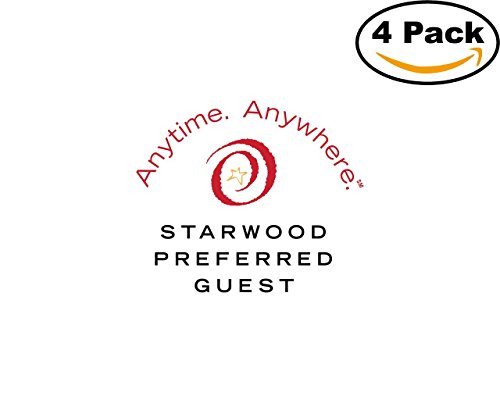 Starwood Office (Starwood Preferred Guest 1 4 Stickers 4X4 inches Car Bumper Window Sticker Decal)
