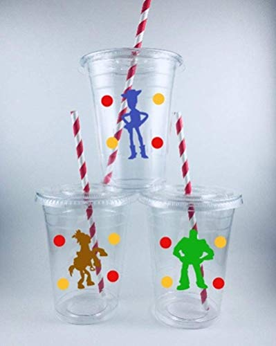 Toy Story Party Cups Set of 12 With Lids Straws Birthday -