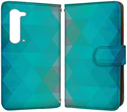 anve AQUOS R5G SH-51A / SHG01 / 908SH 国内生産 カード スマホケース 手帳型 SHARP シャープ アクオス アールファイブジー 【B】 幾何学模様 グラデーション best_vc-721