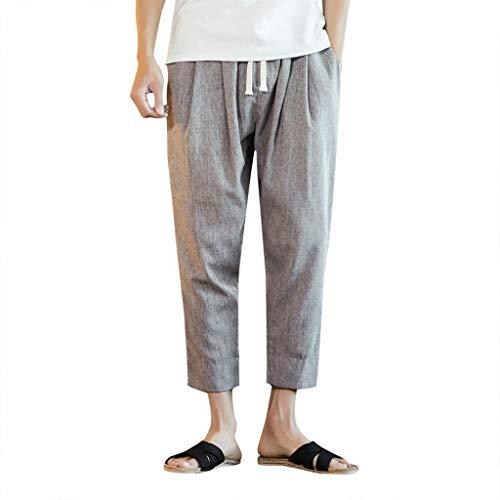 [해외]iMakCC Men\u2019s Casual Baggy Pants Drawstring Retro Linen Loose Joggers Pants Harem Pants Trousers Plus Size / iMakCC Men`s Casual Baggy Pants Drawstring Retro Linen Loose Joggers Pants Harem Pants Trousers Plus Size