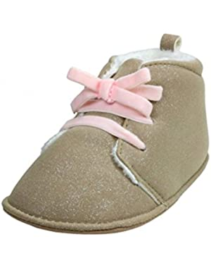 Baby Girl Soft Sole Brown Shimmer Desert Boot by Carters