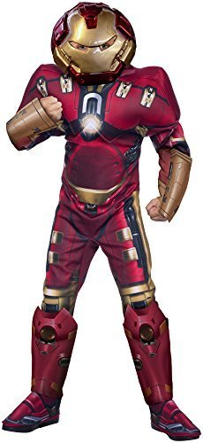 [Rubie's Costume Avengers 2 Age of Ultron Child's Deluxe Hulk Buster Iron Man Costume, Large] (Hulkbuster Costume For Kids)