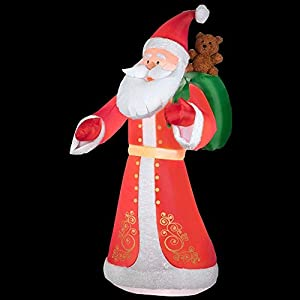 9.5 ft. Inflatable Plush Old World Style Santa - 416Z4Z9uhPL - 9.5 ft. Inflatable Plush Old World Style Santa