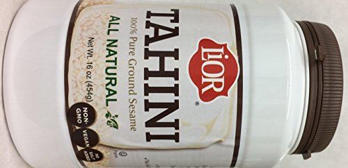 Galil Lior Tahini 100% Pure Ground Sesame Kosher For Passover 16 Oz. Pack Of 6. by Galil