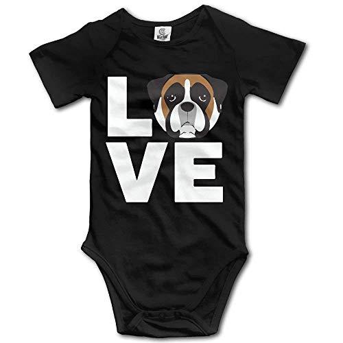 Cvhtr3m Love Boxer Dog Baby Newborn Crawling Suit Short-Sleeve Bodysuit Funny Onesies Romper -
