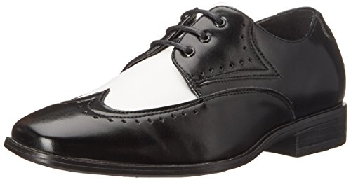 Stacy Adams Atticus Oxford (Little Kid/Big Kid), Black/White, 6 M US Big Kid (Black And White Stacy Adams Shoes)