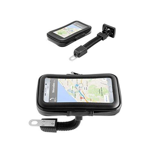 Support t/él/éphone portable Smartphone GPS tactile pour Moto Imperm/éable Tuyau ajustable