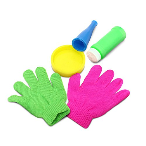 Perfect Life Ideas Bubble Maker Kit. Perfect Party Favor for Kids Makes Soap Bubbles - Bubble Games - Includes- Bubble Blower, Tray, Bubble Solution, and One Pair Gloves. 1 Kit